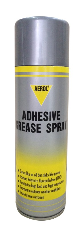 Adhesive grease spray